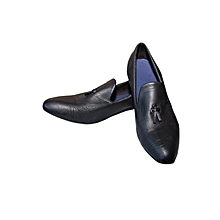 Men Leather Shoes - Black