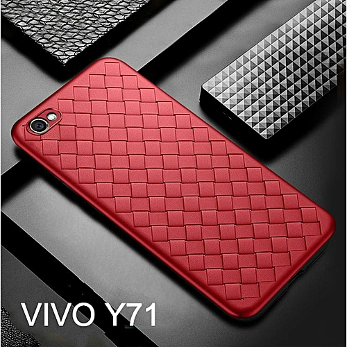 new product 18fe4 d8fd2 For VIVO Y71 Fashion Weave Case Luxury Phone Back Cover For VIVO Y71 Case  Soft Weaving Breathable Housing Shell 203641 c-0 (Color:Main Picture)