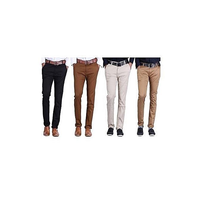 e114d5dc Khaki Trouser Pants 4pack - Off-White Black Brown Beige