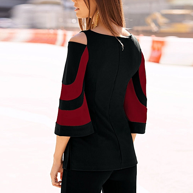 4f5d687fea8c9b Xiuxingzi Women Cold Shoulder Long Sleeve Sweatshirt Pullover Tops Blouse  Shirt