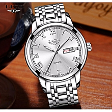 LIGE Watch Men Fashion Sports Quartz Clock Watches Top Brand Luxury Full Steel Business Waterproof men's Watch Relogio Masculino 9846