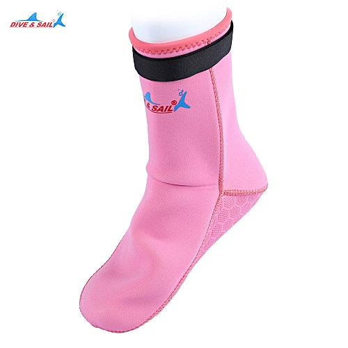 Generic DS - 002 Diving Swimming Socks Suit Dress Boots Non-slip Shoes -  Pink 2550576d7