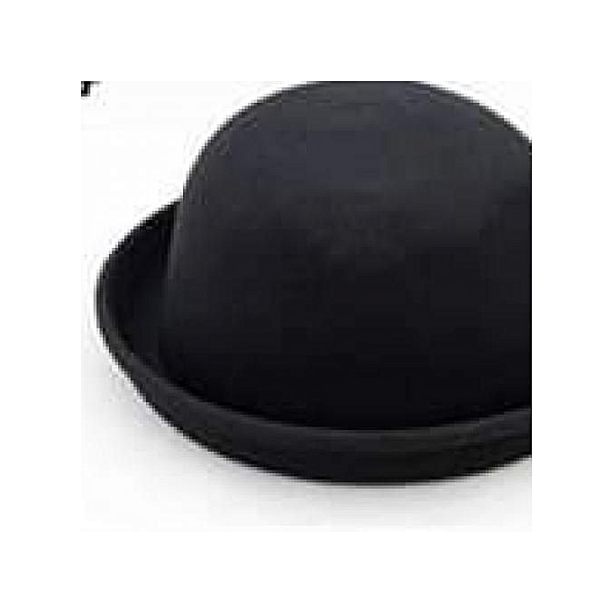 Generic Adjustable Black Wool Bowler Hat   Best Price  1ecf9e9fa08