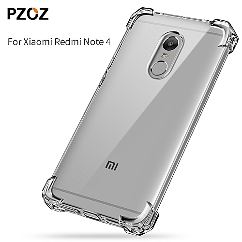pretty nice 0f3b9 602ef Xiaomi Redmi Note 4 Case Silicone Luxury Shockproof for XiaoMi Redmi Note4  Cover Transparent Clear Protective For Xiomi Note4 32GB 64GB 237679 (Black)