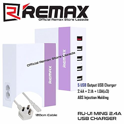 Remax Ming RU-U1 5 USB Hub 2 4A Port Adapter (Purple) (Purple