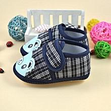 bluerdream-Newborn Girl Boy Soft Sole Crib Toddler Shoes Canvas Sneaker  -Blue