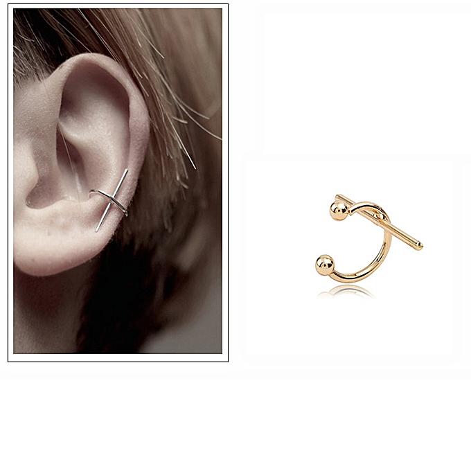 Buy Generic Personality Geometry Ear Bones C Cross Clamp Earfing ...