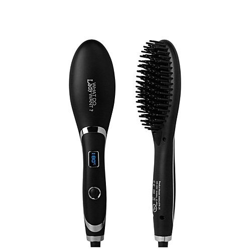 dcfd05ba45619 Generic Hair Brush Fast Hair Straightener Comb Hair Electric Brush ...