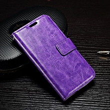 "For LG [K4 2016] Case, Slim Holster Soft Flip Leather Cover With Card Slot Stand Function For 4.5"" LG [K4 2016], Purple"