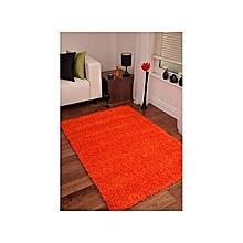 Fluffy Rug Anti-Skid Shaggy Area Rug Dining Room Carpet / Bed Side Carpet Floor Mats -Orange
