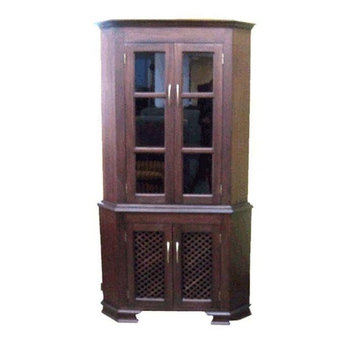 Neo Interiors Furniture Louis Corner Cabinet With Gl Mahogany Online Jumia Kenya