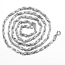 """Byzantine Sterling Silver Yellow Rose White 925 Sterling Silver Chain Size 16"""" (Color: Silver, Width: 0.8mm, Length: 40cm, 1.8g)"""