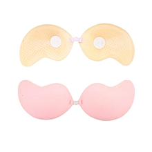 Self-Adhesive Push Up Silicone Bust Front Closure Strapless Invisible Bra