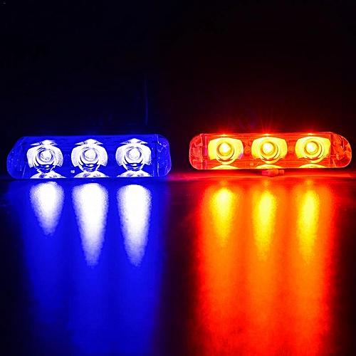 DC12V 2 LED Remote Flash Controller Car Truck Police Light Red And Blue  Flashing Strobe Led LED Light(Blue Red)
