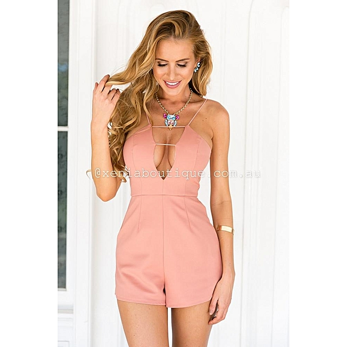 d31eb76047 Fashion YOINS Women New High Fashion Clothing Casual Sleeveless V-neck  Playsuit With Zip Back Fastening
