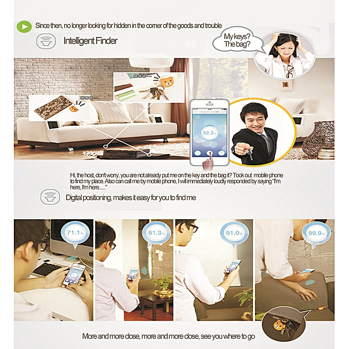 iFind+ Bear BT 4 0 Anti-Lost Intelligent Finder Remote Shutter Self-Timer  for iPhone iPad Android 4 3+