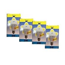 4 Pack-LED Bulb - 9W - E27 - Warm White