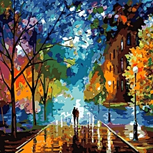 Diy Oil Painting Paint By Number Kit 16*20 Inch Home Wall Art Picture For Living