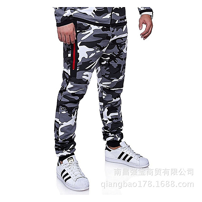 Generic Men s pants fitness running Sports Casual Fashion Camo Slim ... f9a6d81b8018d