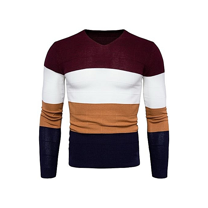 c4608764b Generic Great Sweater Men 2018 Autumn Winter Knitwear Multicolor V ...