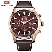 MINI FOCUS Men's Luxury Top Brand Sport Leather Quartz Watch Men Fashion Casual Waterproof Military Watches Relogio Masculino 0082