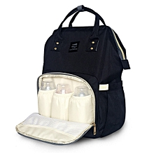 Portable Baby Backpack Diaper Bag for Travel - Black