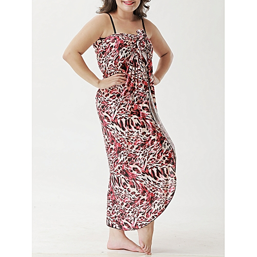 f9b288bff3 Generic Long Section Conservative Printed Multi-way Wear Beach Dress Cover -Ups