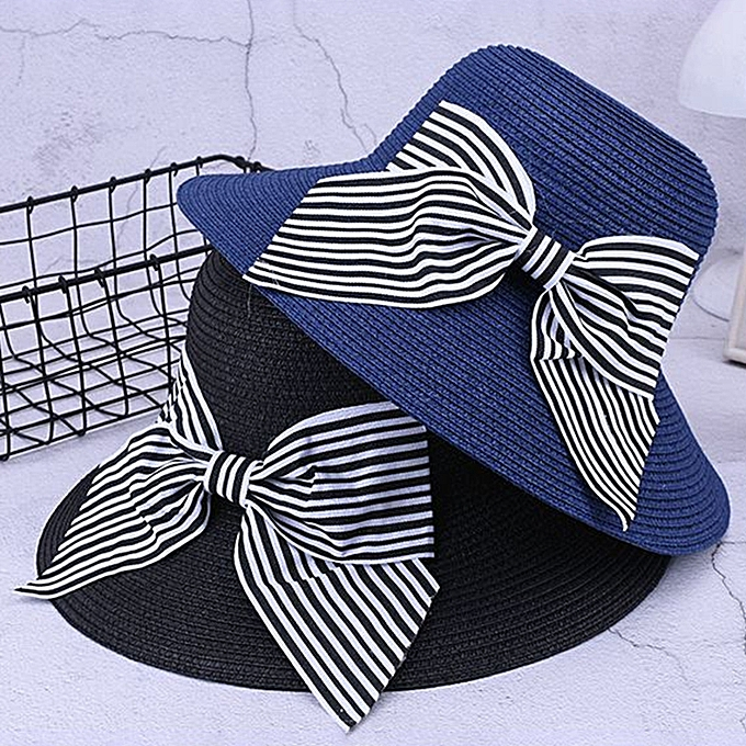 Fashion Outdoor Summer Sun Protection Wide Brimmed Floppy Hat With Bowknot  for Women 9038128dd3b