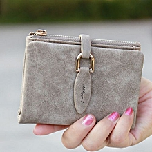 Lady Snap Fastener Short Clutch Wallet Vintage Matte Women Wallet Fashion Small Female Purse Short Coin Card Holder Pink Coffee