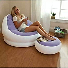 Inflatable seat plus Foot Rest - Purple Plus with a free pump