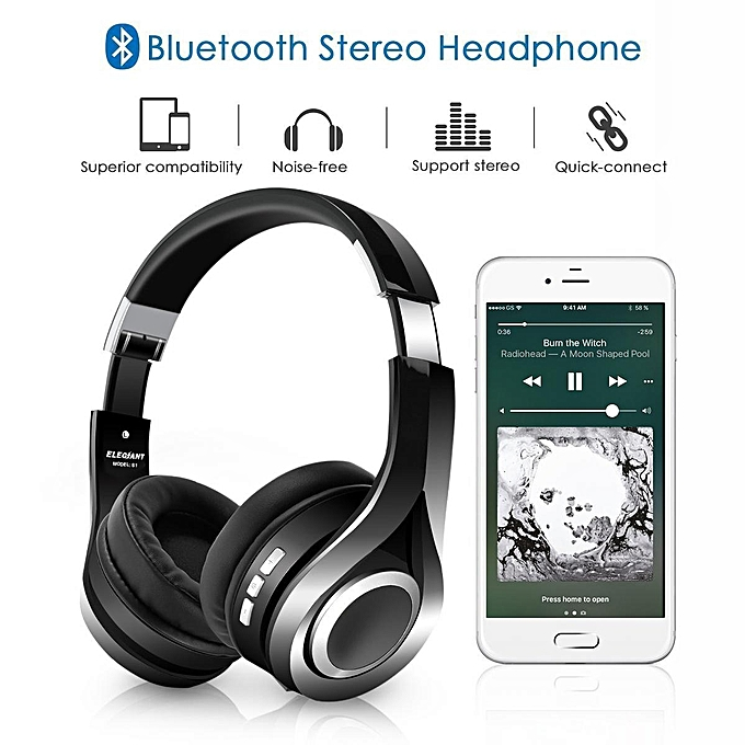 8e5c8bf1f2e ... Wireless Headphones, ELEGIANT S1 Over Ear Wireless Headset Hi-Fi Stereo  Headphones Foldable with ...