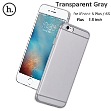 Clear Transparent Crystal Soft TPU Cover Case For 5.5 Inch IPhone 6 Plus 6S Plus - Transparent Gray