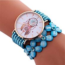 Women Fashion Wind Chimes Pattern Quartz Watch Winding Bracelet SB