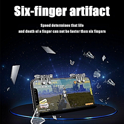 PUBG Mobile Controller Sensitive Aim Buttons With Additional Left And Right  Probe Shooting Triggers For Fortnite / L1R1 / Rules Of Survial,Auxiliary