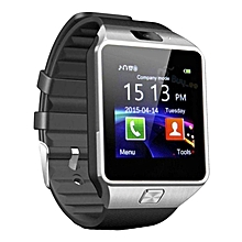 Bluetooth Smartwatch Watch with Camera - Black and Silver