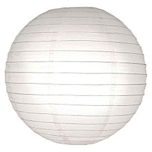Chinese Paper Lanterns / Ball Lampshades - 25cm white