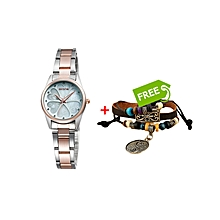 Sparkling Charm Watch Rose Gold-Silver - Free Bracelet