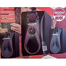 SUBWOOFER  SUPER SUBWOOFER-FM-USB-8800 W PMPO-
