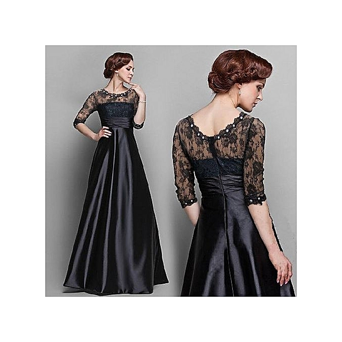 New Fashion Women Dress Casual Summer Dress Elegant Long Sleeve Bohemian  Wedding Dress Party Solid Evening e094785ed