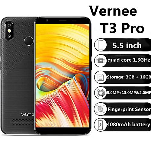T3 Pro 4G 5.5 inch Android 8.1 3GB RAM 16GB ROM - black