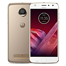 Moto Z2 Play 5.5-inch (4GB, 64GB ROM) Android 7.1, 3000mAh, 12MP+ 5MP, 4G LTE Smartphone - Gold