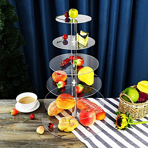 3 4 5 6 Tier Clear Acrylic Round Cup Cake Cupcake Stand Wedding