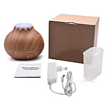 Home-400ml Air Humidifier Aromatherapy Essential Oil Diffuser with LED Lights*Light Wood Grain
