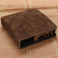 For IQOS Electronic Cigarette Kit Box Holder Carry Pouch Bag Leather Cards Case Brown