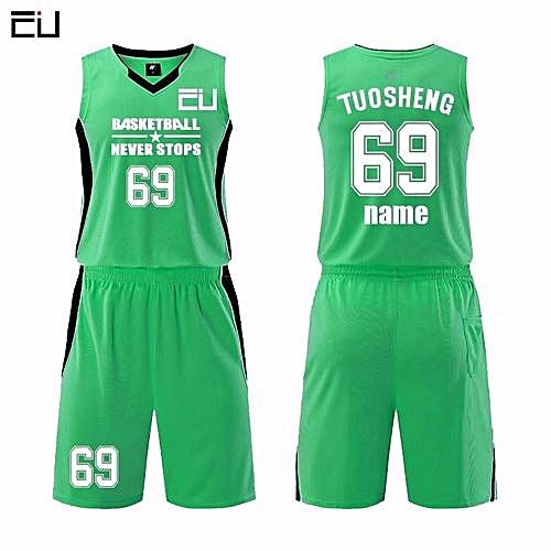 ce45a0b04 Longo Customized Name Number Men s Basketball Team Sport Jersey Uniform -Green(MDS-1702)