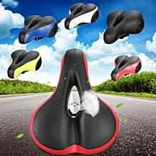 Wide Big Bum Road MTB Saddle Bike Bicycle Seat Cushion Shockproof + Reflector