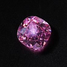 Unheated 10.68CT Royal Pink Sapphire 12x12mm Cushion Shape Loose Gemstone 1