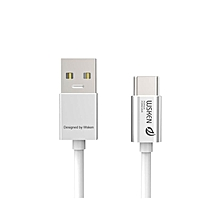 Charging Data Type-C 3.0 Sync Cable With Type-C Connector - Silver