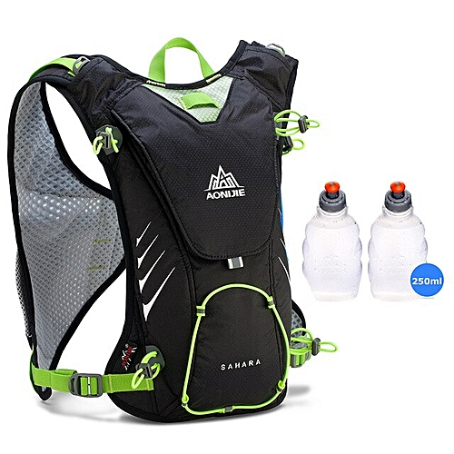 2f4e69a473c8 8L Running Vest Pack Light Weight Nylon Camping Hydration Backpack Men  Women Marathon Bicycling Hiking 4 Colors(Black 250ML bottle)