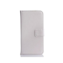"For Moto G Case, Slim Holster Soft Flip Leather Cover With Card Slot Stand Function For 4.5"" Moto G, White"